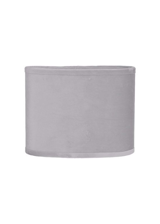 Liten oval sammetsskärm Sindy Silver