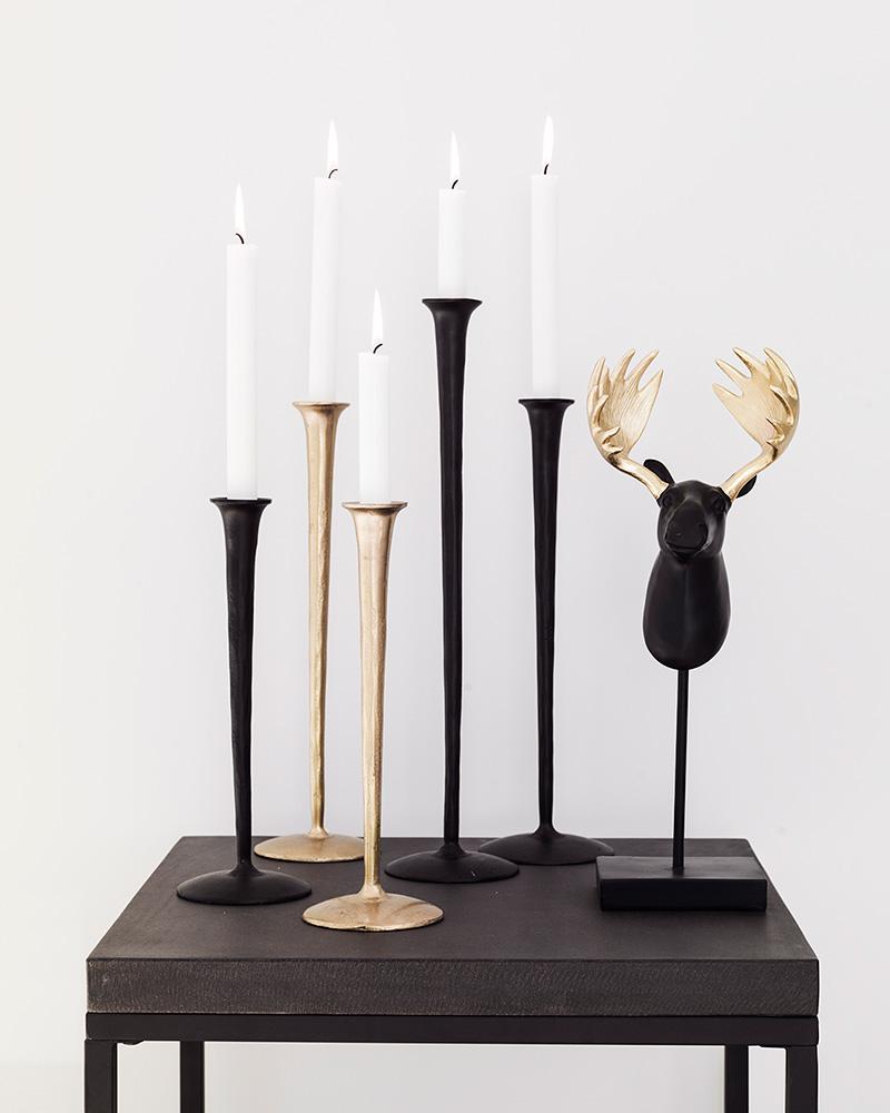 Ljusstakar Gallery noir set/3