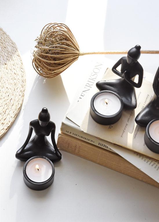 Ljuslyktor Yoga girlz set/3