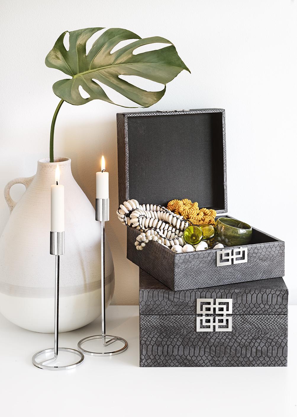 Smyckesskrin Grey Snake Set