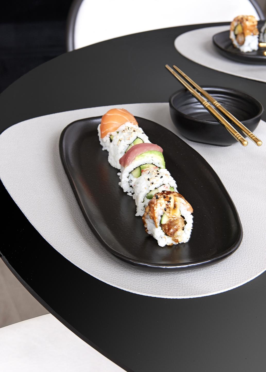 Quan sushiset fat + skål (4 delar)
