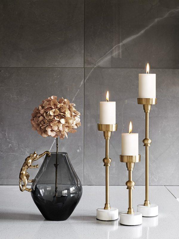 Marble Art Guld/Vit S
